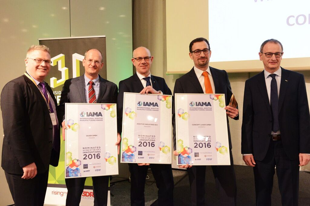 Concept Laser aus Oberfranken gewann den IAMA, International Additive Manufacturing Award