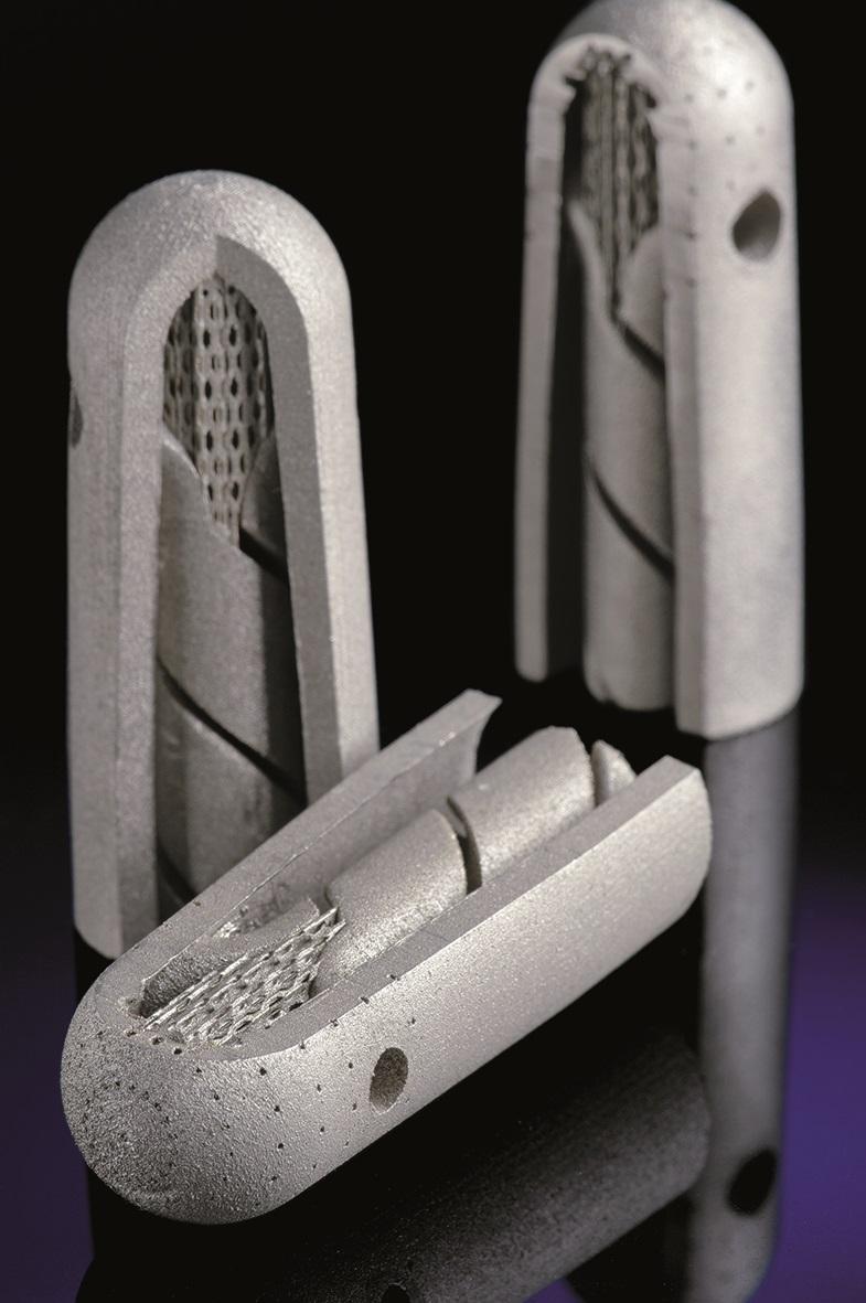 Werkzeug zur Verschäumung von Polymeren, das aufgrund seiner komplexen Struktur mit SLM gefertigt wird.