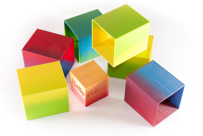 Zmorph Dual PRO Extruder Farbmischung Farbverlauf