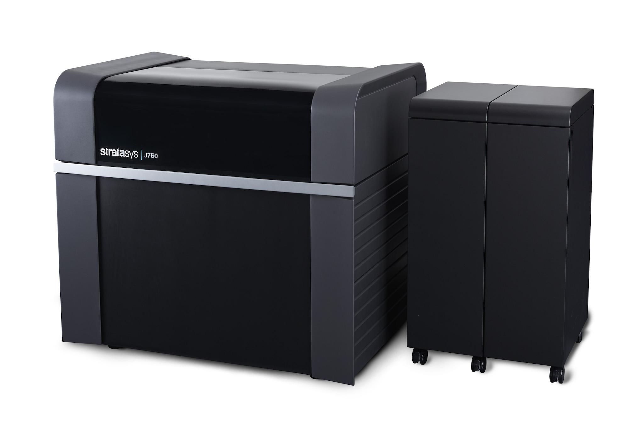 Der neue Stratasys J750 ist der weltweit einzige 3D-Drucker, der farbechte Multimaterial-Produkte erstellt. Er bietet eine auf dem Markt einzigartige Vielseitigkeit, wenn es um Advanced Prototyping, Werkzeugbau, Spritzguss und Produktionsteile geht – und das in nur einem Druckvorgang.