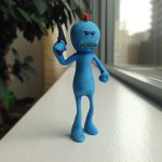 """old Mr. Meeseeks 3D Printed 150x150 - """"Look at me!"""" - Der perfekte Begleiter für Rick and Morty Fans! - Update: Mr. Poopy ButtHole"""