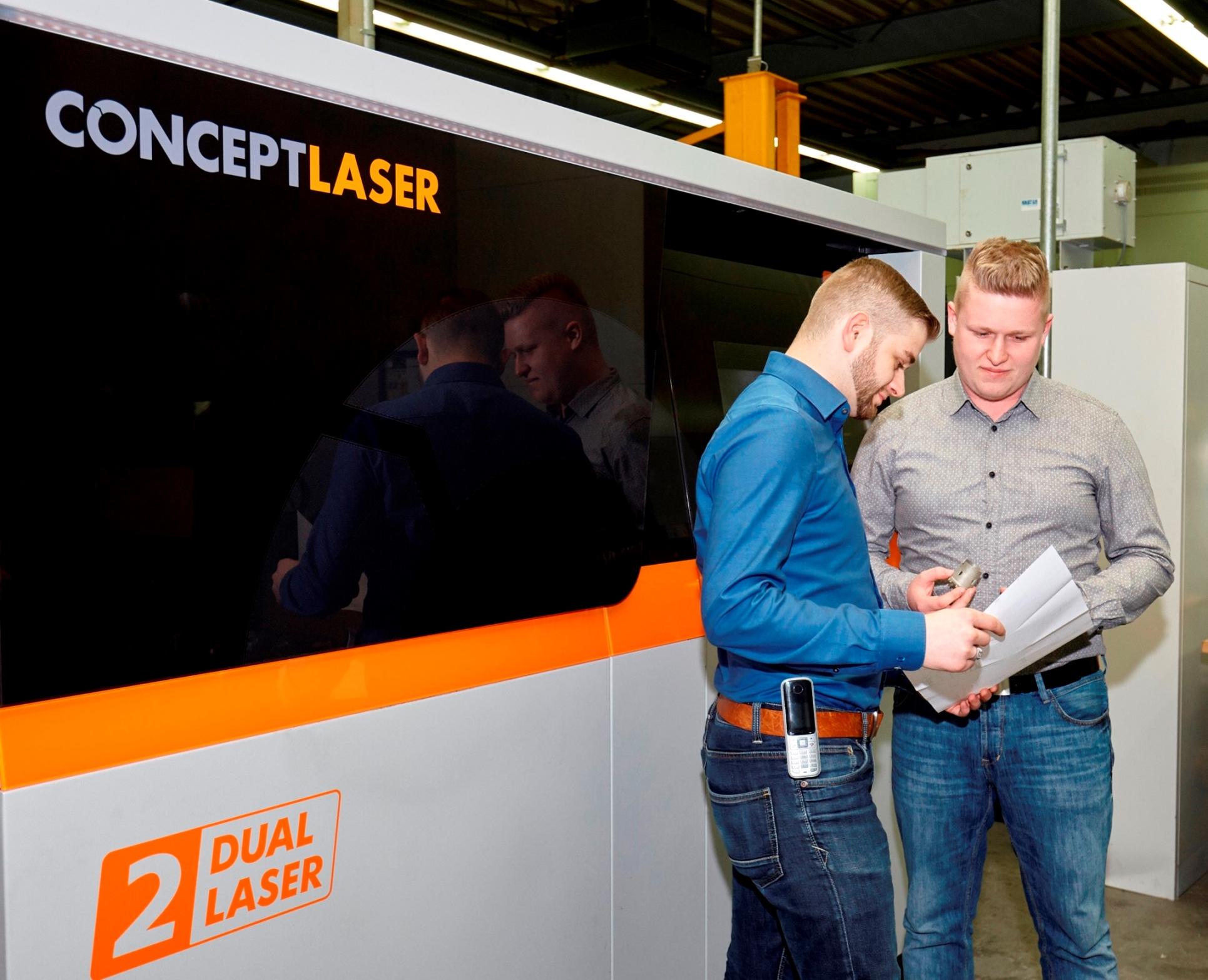 Keimzelle der 3D-Metalldruck-Fertigung in Pinneberg: LaserCUSING-Anlage M2 cusing Multilaser bei Jung & Co. Das Gesamtpaket aus Technologie, Sicherheitskonzept und Partnerschaft gab den Ausschlag für Concept Laser Bild: Jung & Co.