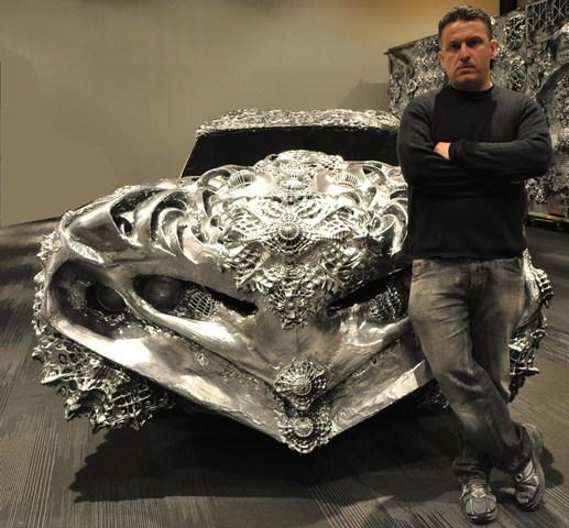3d printed liquid metal ford torino ioan florea 3d druck auto2 - 3D-gedruckter Ford Torino von Künstler Ioan Florea wird versteigert
