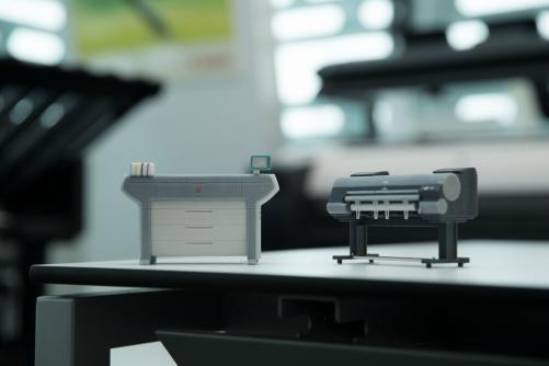 3D gedruckte Modelle von Canon Großformatplottern