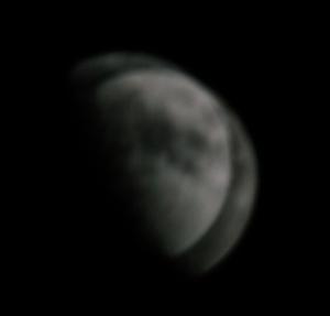 Mond nicht fokusiert