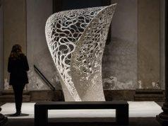 Präsentation Von 3D Gedruckten Design Objekt Auf Der Milan Design Week 2017