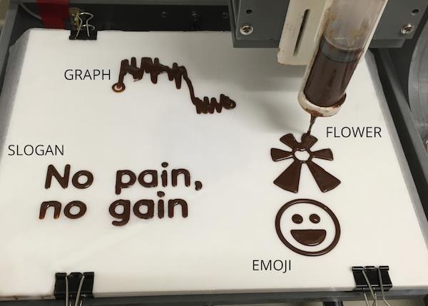 3D schokolade icons - EdiPulse-System wandelt körperliche Aktivitäten in 3D-Druckschokolade um