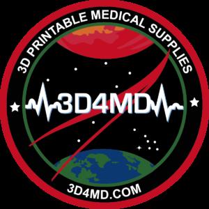"""3D4MDMissionBadge 300x300 - """"Houston, drucken Sie mir eine Pinzette im Weltraum"""" 3D-Druck in der Medizin #4 Tooling"""