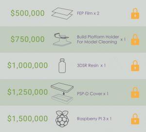 """flex goals bean 300x273 - Kudo3D bringt günstigen SLA-3D-Drucker """"Bean"""" auf Kickstarter - Update"""
