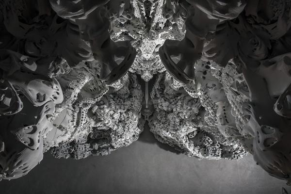 h%C3%B6hle1 - Architekten stellen 3D-gedruckte Höhle aus Sandstein in Pariser Museum aus