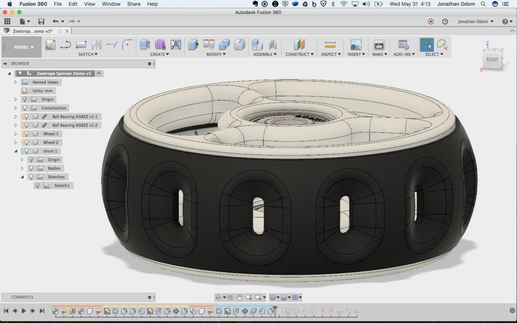 zoetrope fidget spinner software - Do it Yourself: Zoetrope-Fidget-Spinner aus dem 3D-Drucker