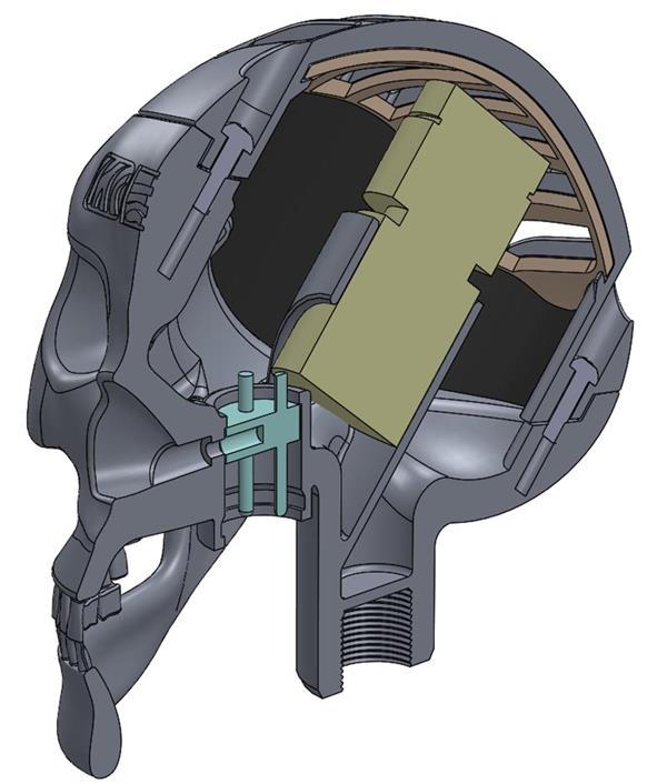 """3d gedrucktes skeletor4 - Olaf Diegal Designs 3D-druckt Schädel-förmiges Mikrofon """"Skeletor"""""""