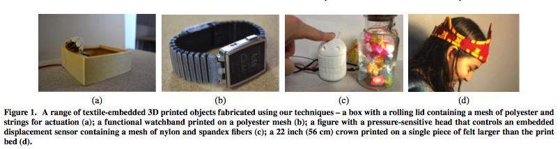 3d druck textilien funktionelle objekte - Forscher kombinieren 3D-Druck mit Textilien um funktionelle Objekte herzustellen