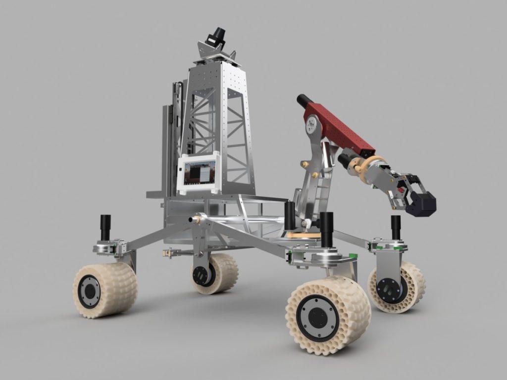 rover assembly with propulsion system including aluminum items 1024x768 - Mars-Rover gefertigt aus Fiberflex 40d