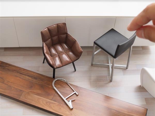 Nach Eigener Aussage Hatte Das Design Unternehmen Probleme Mit Dem 3D Druck  Plattenförmiger Teile Wie Tischplatte, Tür Und Zähler, Da Diese Beim  Verkleinern ...
