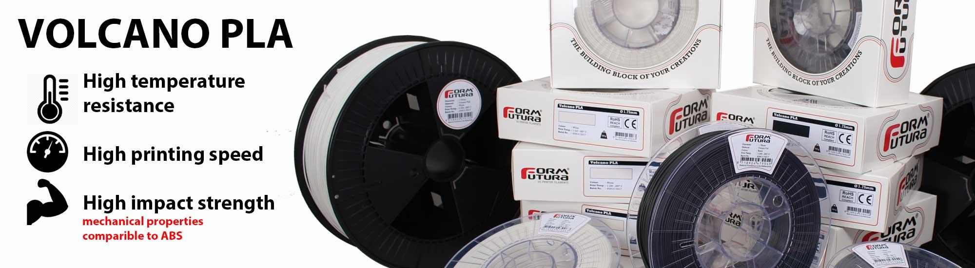 Volcano PLA - Neue technische Materialien von Formfutura: STYX-12 und Volcano PLA