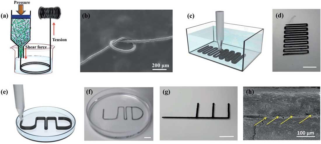 3d druck cellulose kohlenstoff nanoroehrchen - Nanocellulose verbessert 3D-Druck von Kohlenstoff-Nanoröhrchen für Wearable Electronics