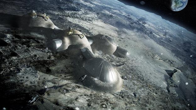 3d ducker mond dorf esa1 - 3D-gedrucktes Dorf am Mond soll laut ESA bis 2030 Realität werden