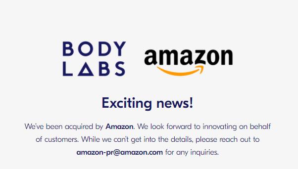 Body Labs gekauft von Amazon - Amazon kauft 3D-Scan Startup Body Labs für mindestens 50 Millionen Dollar
