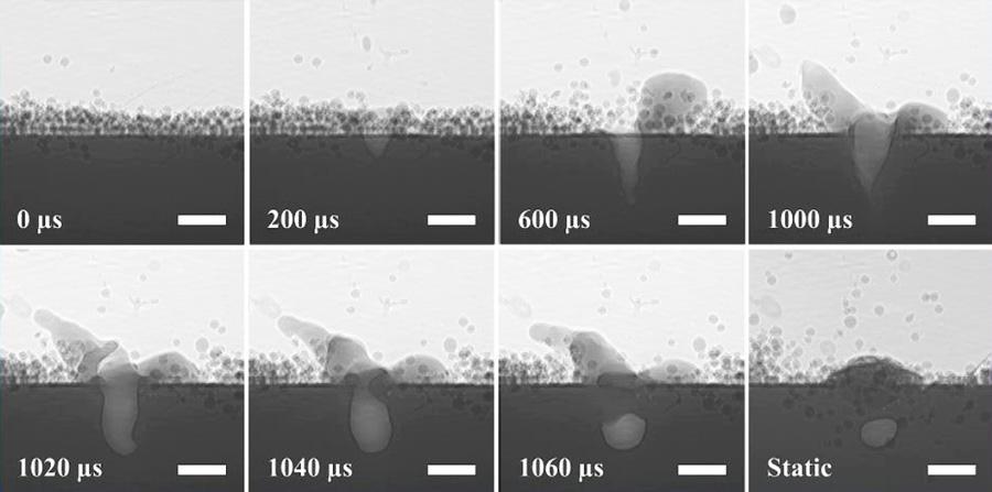 metall 3d druck aufnahmen schmelzprozess - Forschungsprojekt untersucht Entstehung von Strukturmängeln bei 3D-Druck mit Metall