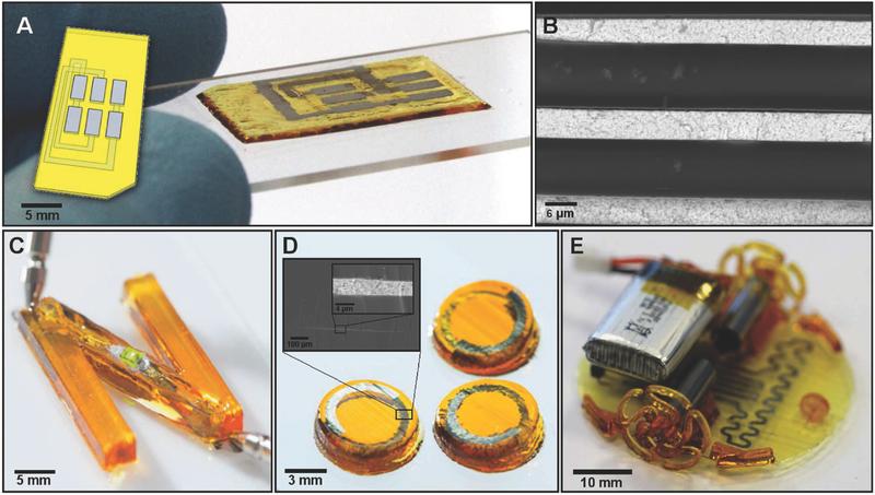 3d druck elektronikkomponenten1 - Neue Methode für 3D-Druck von voll funktionsfähigen Elektronikschaltungen
