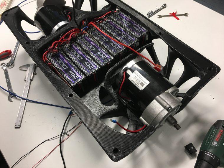 3d gedrucker selbstbalancierender scooter1 - Studenten entwickeln selbstbalancierenden 3D-gedruckten Scooter