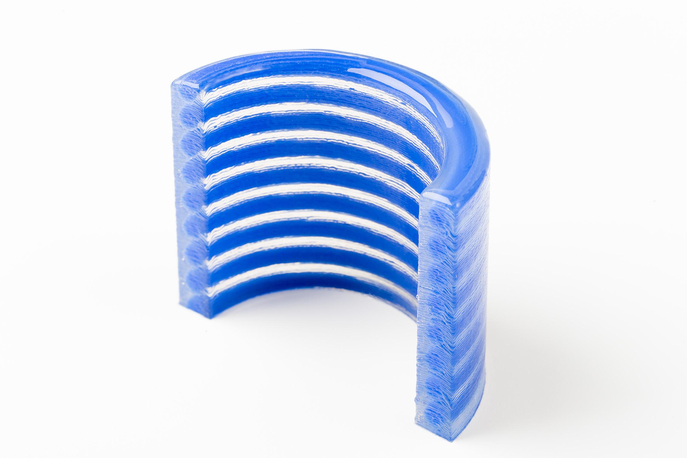 ACEO Muster 2 Komponenten 3d druck silicon  - Multi-Material 3D-Druck mit Siliconen - ACEO stellt neue Technologie vor
