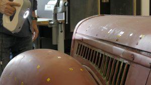 """06 Artec 3D Scan der Motorabdeckung 300x169 - """"Future Meets Past"""": 3D-Scans zur Restauration und Bewahrung von Oldtimern"""