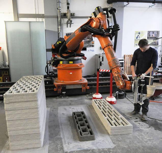 3D druck beton tu muenchen selektives binden1 - TU München forscht an 3D-Druck von bionischen Betonstrukturen