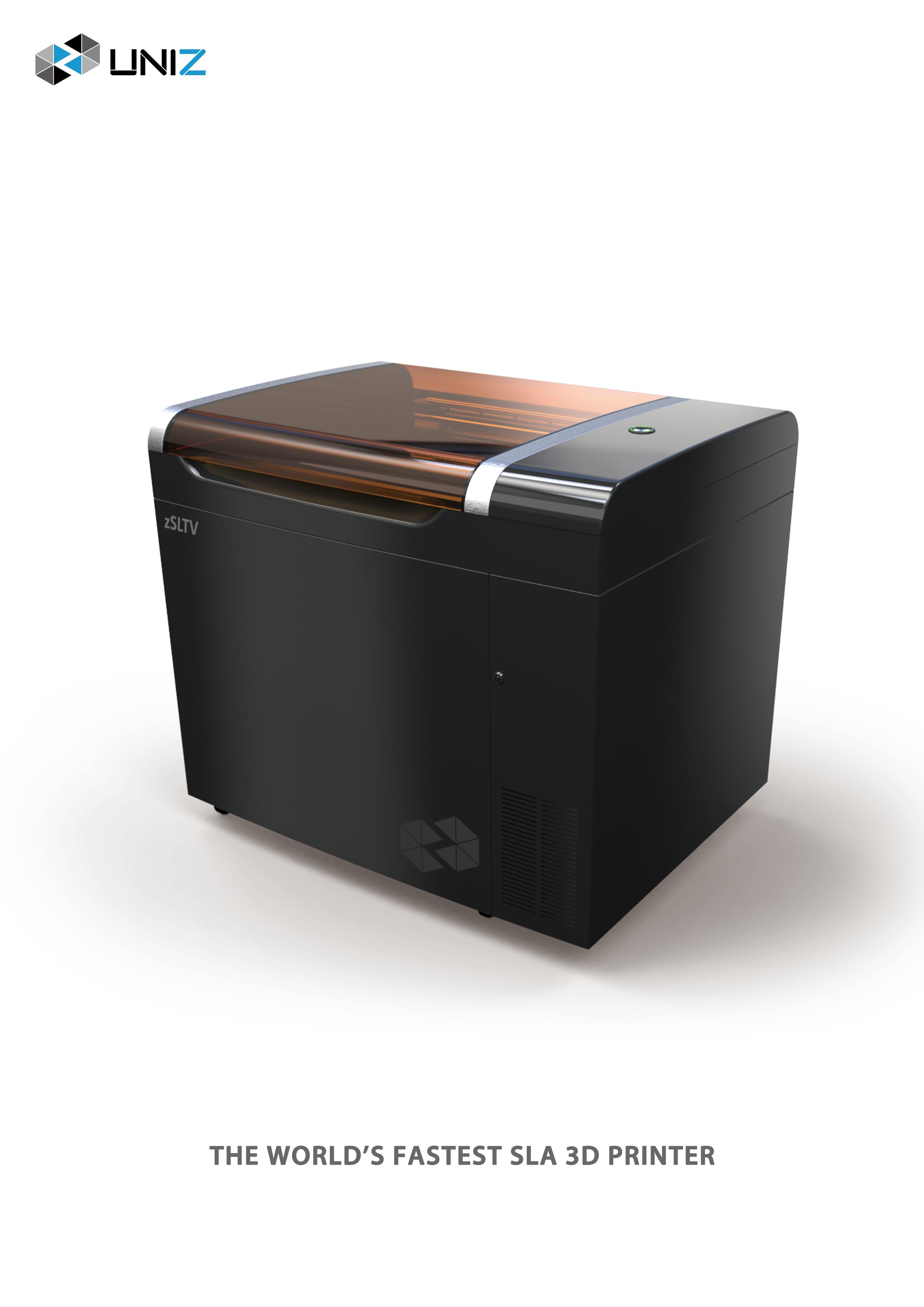 zSLTV UNIZ LCD SLA Drucker - UNIZ stellt 5 neue 3D-Drucker mit Uni-Directional Peel Verfahren vor