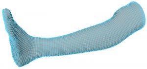 02 Artec 3D Digitalmodell eines Unterschenkels 300x141 - 3D-Scanner Artec unterstützt die Entwicklung ergonomischer Exoskelette