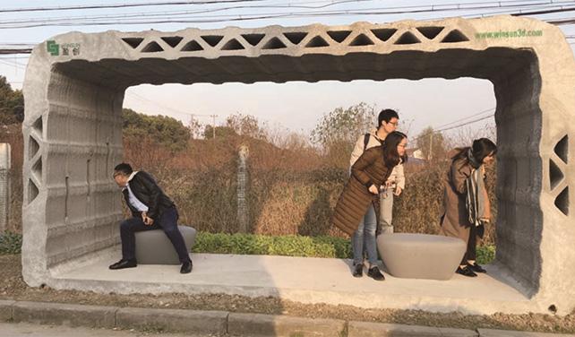 winsun stellt erste 3d gedruckte bushaltestelle in china auf. Black Bedroom Furniture Sets. Home Design Ideas