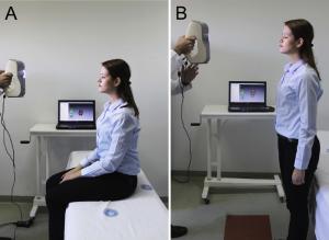 01 Scanning einer Person im Sitzen Stehen und in R%C3%BCckenlage sehr gro%C3%9F 300x219 - Türkische Medizinexperten nutzen Eva, um Verschiebungen im Gesichtsweichgewebe zu messen