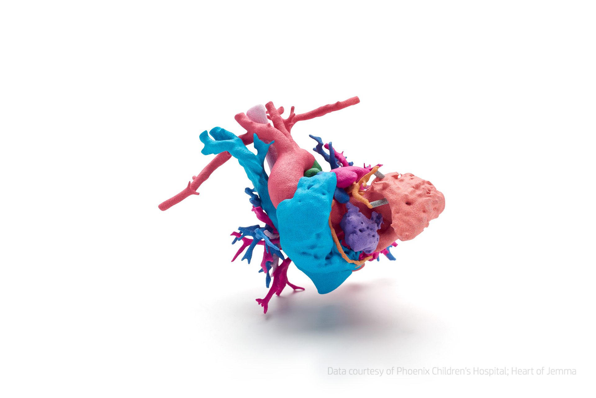 3D Printed Full Color Heart HP Jet Fusion 3d drucker - HP stellt 3D-Farbdrucker vor: Jet Fusion 300 und 500 Serie