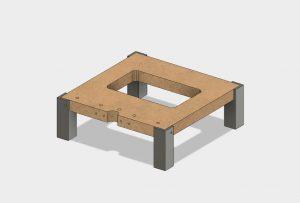 DIY SLA LCD Base1 300x203 - Bauanleitung: SLA-LCD 3D-Drucker selber konstruieren - Teil 4