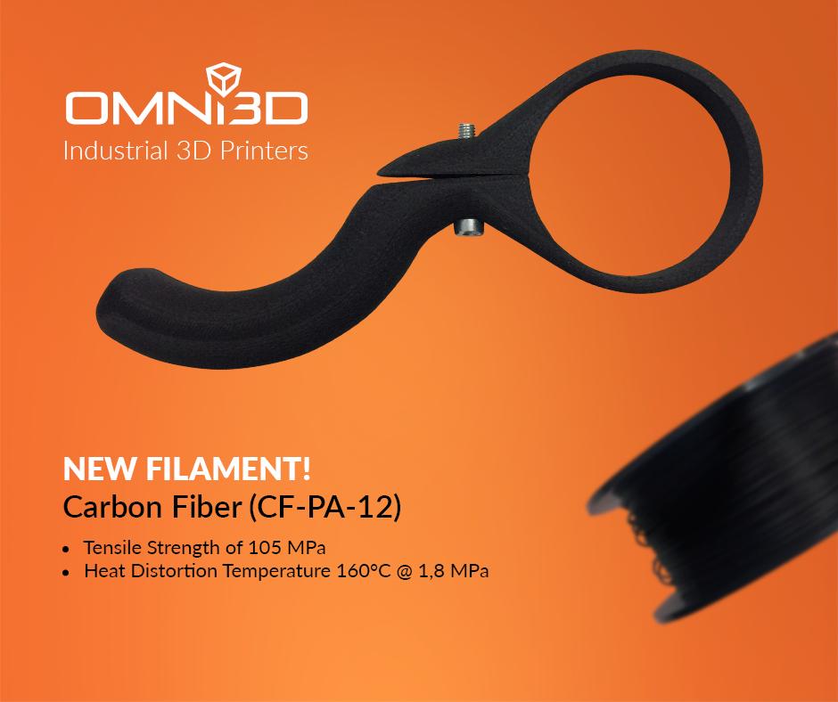 OMNI3D carbonfaser filament 3d druck - In Kürze: Omni3D Carbon-Filament, Ultimaker & GE, Stratasys & SIA