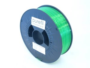 purefil PETG gr%C3%BCn transparent 1kg 1.75mm 300x225 - Neue Materialien von purefil