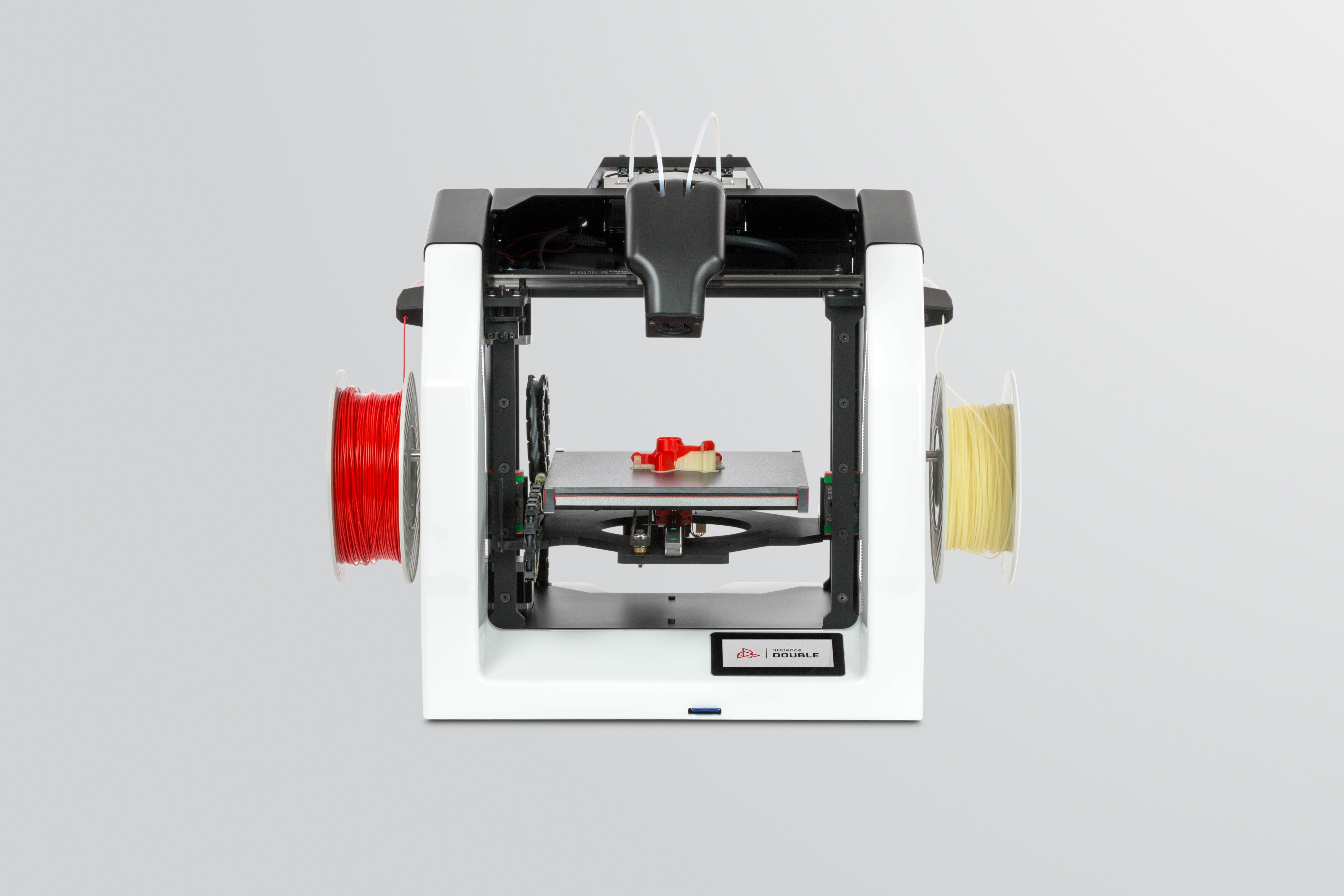 3DGence Double 3d drucker dualextruder2 - 3DGence stellt neuen DOUBLE 3D-Drucker mit Dualextruder vor