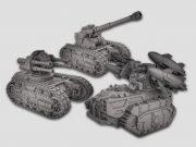 Kickstarter-Kampagne für 3D-gedruckte Sci-Fi Panzer