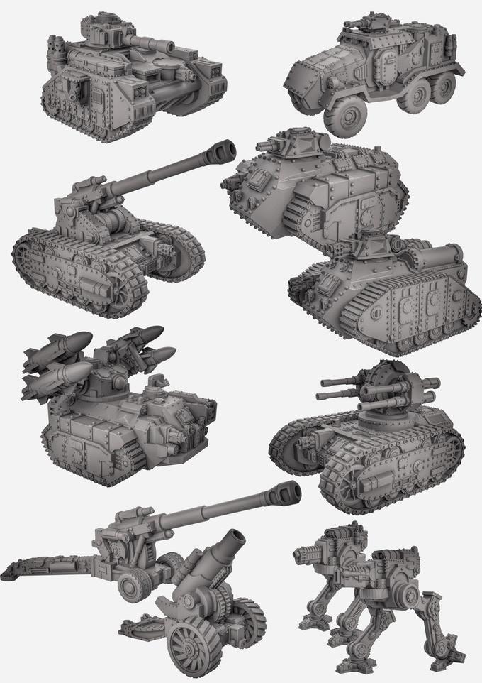 3d gedruckte sci fi panzer duncan shadow louca4 - Kickstarter-Kampagne für 3D-gedruckte Sci-Fi Panzer