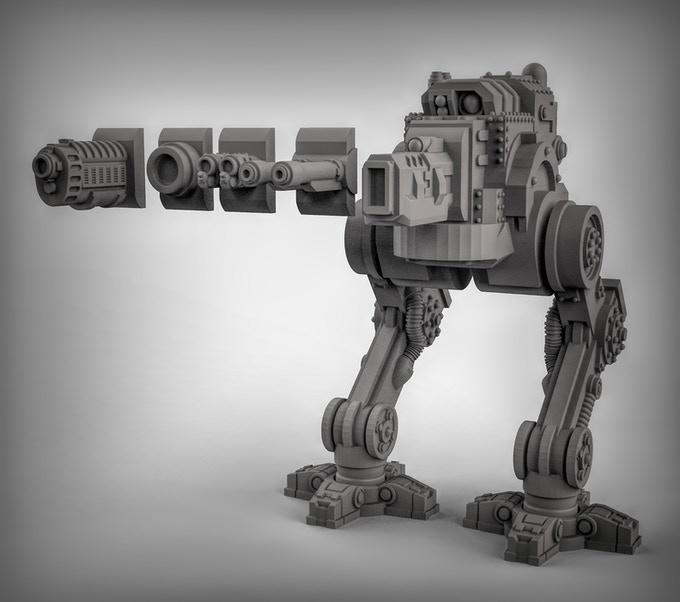 3d gedruckte sci fi panzer duncan shadow louca5 - Kickstarter-Kampagne für 3D-gedruckte Sci-Fi Panzer