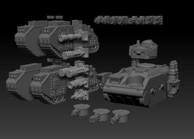 3d gedruckte sci fi panzer duncan shadow louca6 - Kickstarter-Kampagne für 3D-gedruckte Sci-Fi Panzer