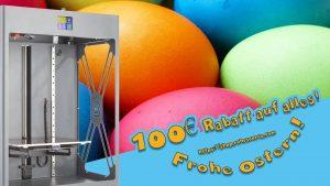 Ostern 2018 300x169 - Satte Oster-Rabatte auf 3D-Drucker auf CraftBots, Palette+ und CUR3D