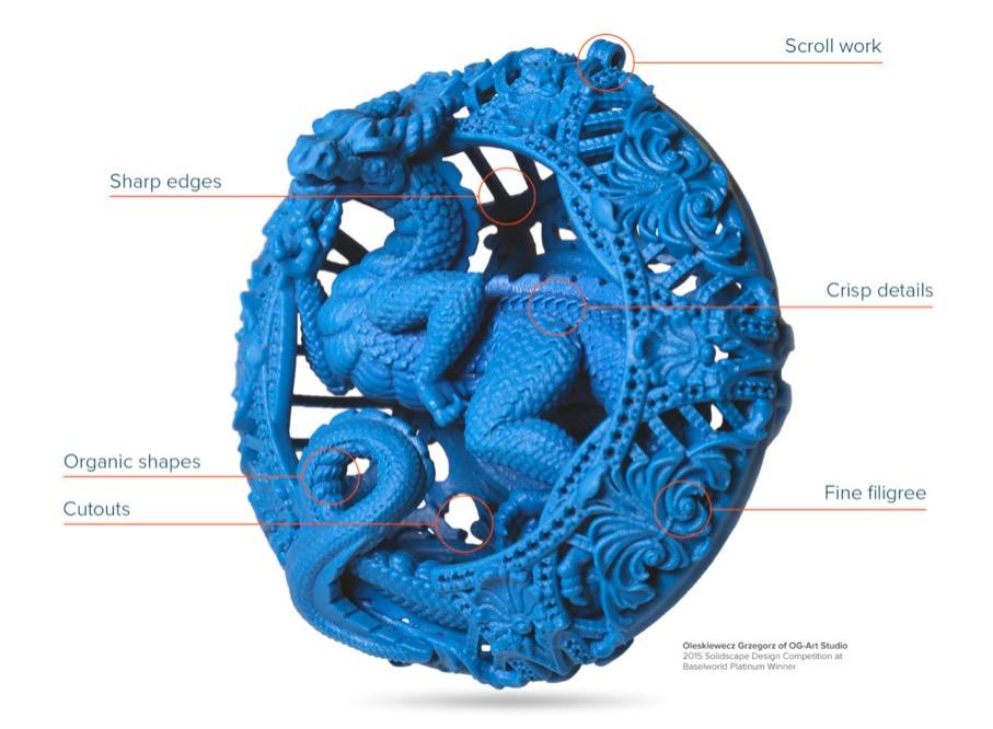 S390 solidscape 3d drucker wachs schmuck1 - Solidscape präsentiert S390 3D-Drucker für Schmuck