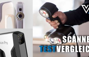 Praxistest handgehaltene 3D-Scanner Artec, Shining und Creaform