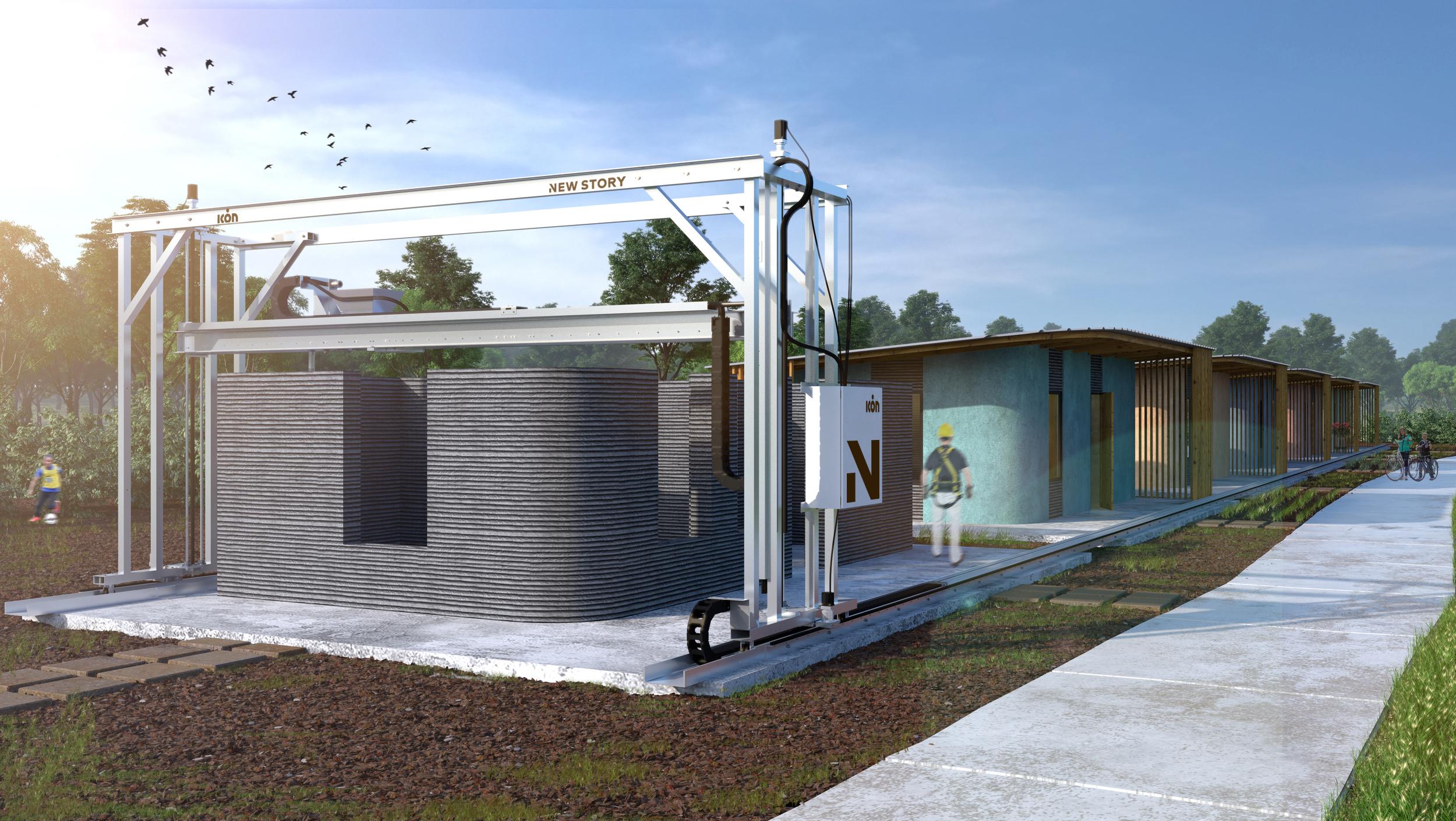 vulcan 3d drucker haus1 - New Story und ICON planen Häuser aus dem 3D-Drucker für $ 4000