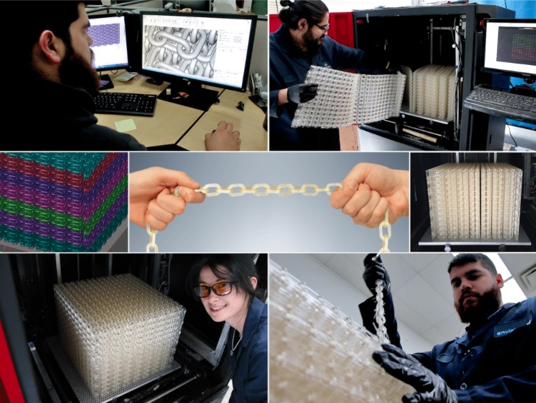 envisiontec 3d gedruckte kette 3 rigidform1 - EnvisionTEC stellt längste 3D-gedruckte Kette aus starkem E-RigidForm Material her