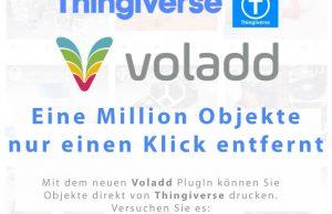 Thingiverse-Integration für den hobby3DDrucker Voladd verfügbar