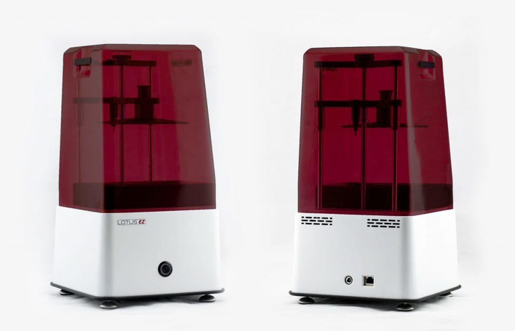 Lotus EZ 3d drucker vorne hinten 1024x659 - Lotus EZ: Neuer günstiger LCD SLA 3D-Drucker auf Kickstarter