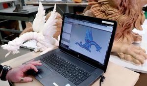 pagode drachen 3d modell 300x175 - Kew Gardens: 3D-gedruckte Drachen für historisches Gebäude